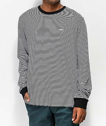 Obey Apex camiseta de manga larga negra y blanca de rayas