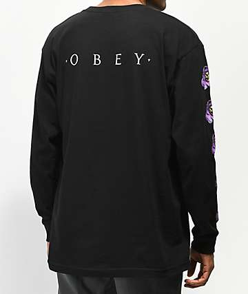 Obey Awakening Black Long Sleeve T-Shirt