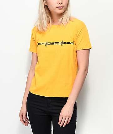 Obey Barbed camiseta dorada encogida