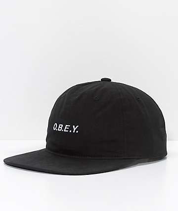 Obey Barrage Black Snapback Hat