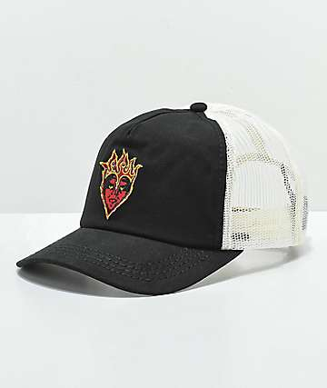 Obey Be Mine Black Trucker Hat