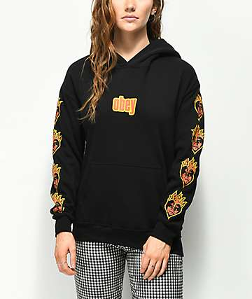 Obey Be Mine Delancey Black Hoodie