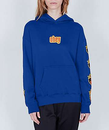 Obey Be Mine Delancey Royal Blue Hoodie