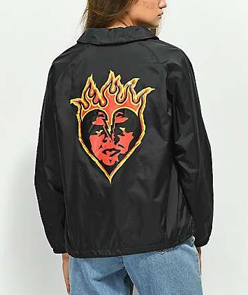 Obey Be Mine chaqueta entrenador negra
