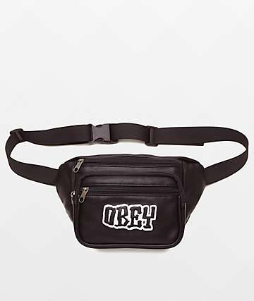Obey Better Days Pu Black Fanny Pack