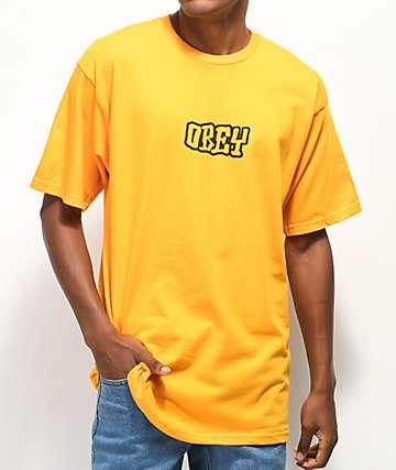 Obey Better Days camiseta dorada