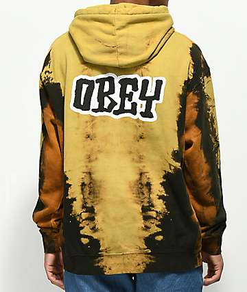 Obey Better Days sudadera con capucha negra blanqueada