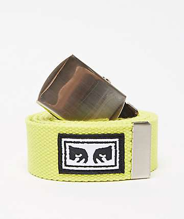 Obey Big Boy Safety Green Web Belt