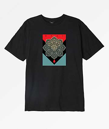Obey Blood & Oil Mandala Black T-Shirt