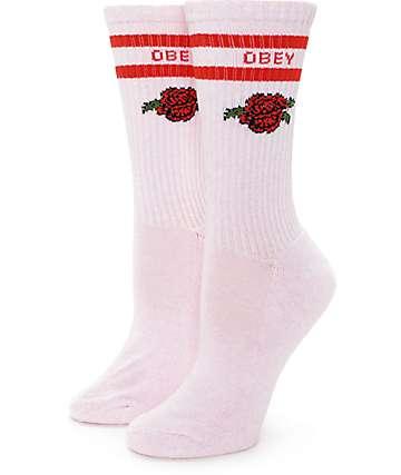 Obey Borden calcetines en rosa clara
