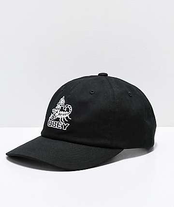 Obey Borrego gorra negra con ajuste a presión