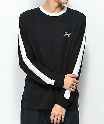 Obey Borstal camiseta de manga larga en negro y blanco