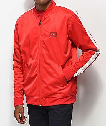 Obey Borstal chaqueta de chándal roja