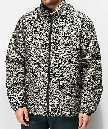 Obey Bouncer Leopard Puffer Jacket