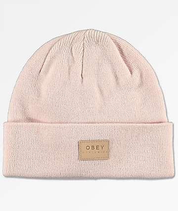 Obey Briean Light Pink Beanie