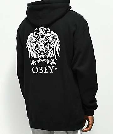 Obey Broken Eagle Black Hoodie