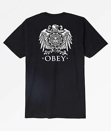 Obey Broken Eagle Black T-Shirt