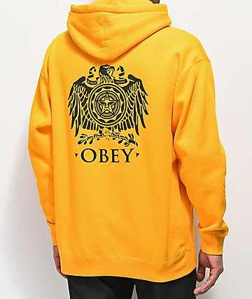 Obey Broken Eagle Gold Hoodie