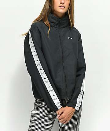 Obey Cerise Black Track Jacket