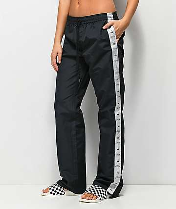 Obey Cerise Black Track Pants