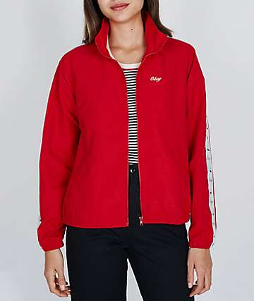 Obey Cerise Red Track Jacket