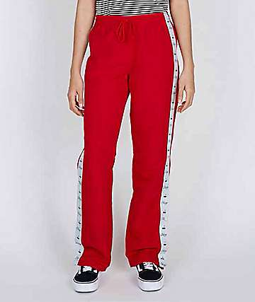 Obey Cerise Red Track Pants
