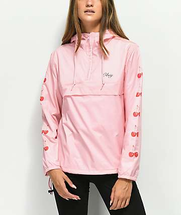 Obey Cherries Pink Anorak Jacket