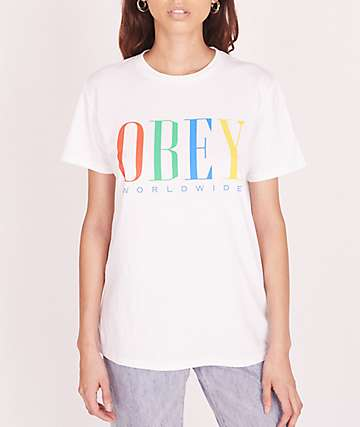 Obey Chess King White T-Shirt