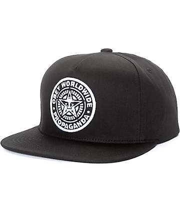 Obey Classic Patch Black Snapback Hat