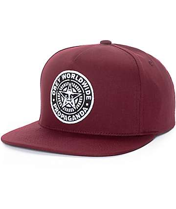 Obey Classic Patch gorra snapback en color vino