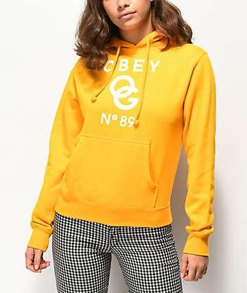 Obey Classics sudadera con capucha dorada