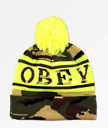 Obey Clearwater Camo Beanie