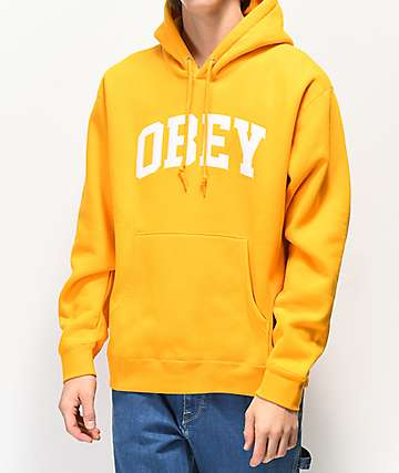Obey Collegiate Gold Hoodie