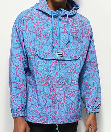 Obey Concrete Blue Anorak Jacket