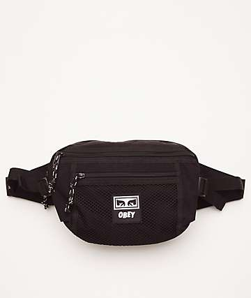 Obey Conditions Black Fanny Pack