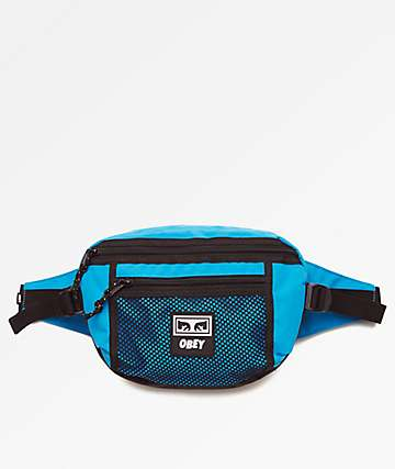 Obey Conditions Teal Fanny Pack