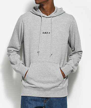 Obey Corsair Heather Grey Hoodie