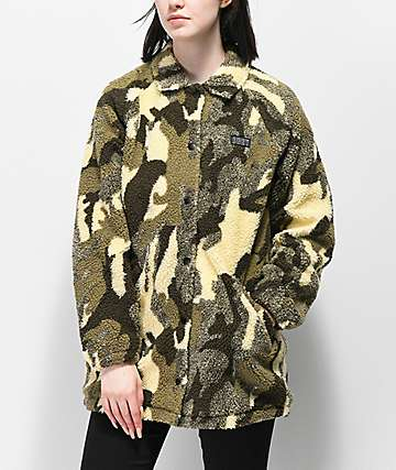 Obey Covert chaqueta camuflada de sherpa