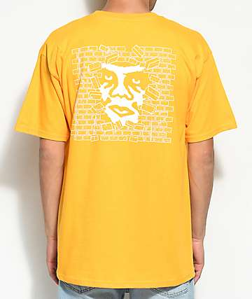 Obey Creeper Wall Gold T-Shirt