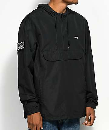Obey Crosstown Black Anorak Jacket