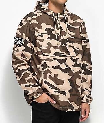 Obey Crosstown Field Camo Anorak Jacket