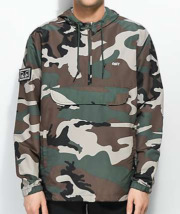 Obey Crosstown Field Camo Anorak Jacket