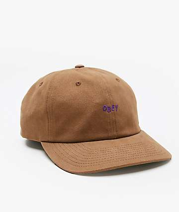 Obey Cutty Brown Snapback Hat