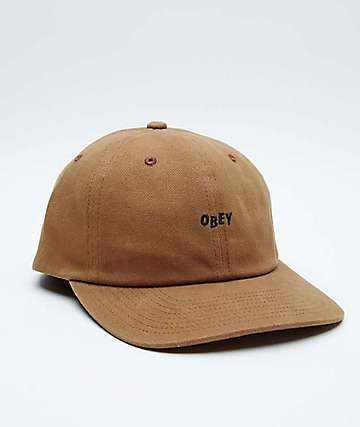 Obey Cutty Wheat Brown Strapback Hat