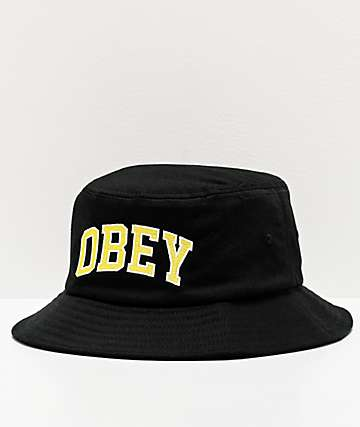 Obey DTP Black Bucket Hat