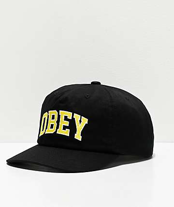 Obey DTP Black Snapback Hat