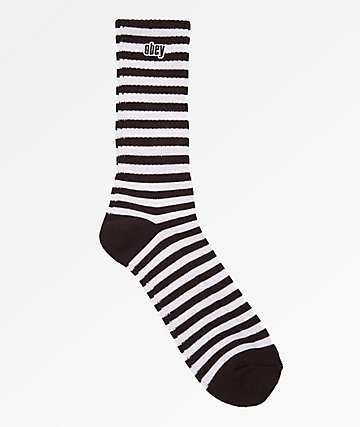 Obey Dale Black & White Crew Socks