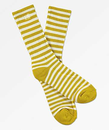 Obey Dale calcetines a rayas de color oliva