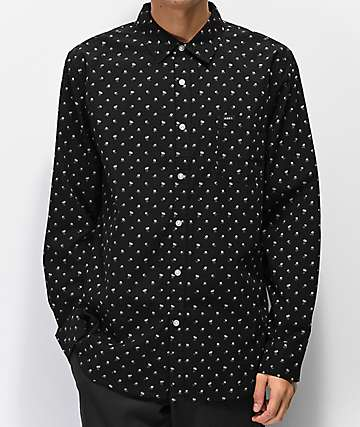 Obey Darcey Black Long Sleeve Button Up Shirt