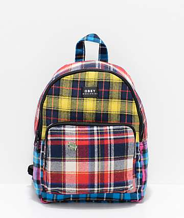Obey Daria Plaid Mini Backpack